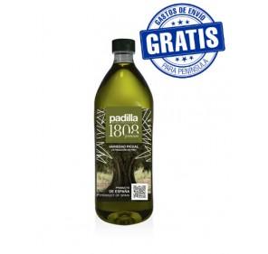 Padilla 1808. Extra Virgin Olive Oil. Box of 12 x 1 Liter.