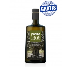 Padilla 1808. Extra Virgin Olive Oil. Box of 12 x 500 ml.
