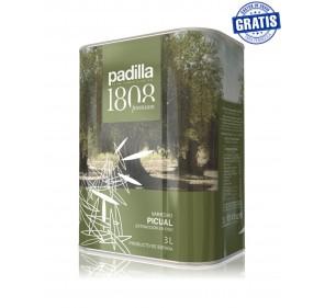Padilla 1808. EVOO. Box of 4 x 3 Liters.