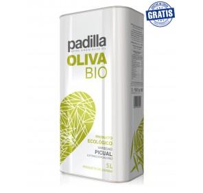 Padilla. Organic Extra Virgin Olive Oil Bio. Box of 2 x 5 Liters.