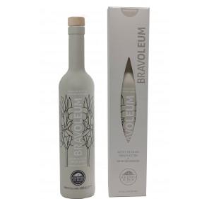 Bravoleum. EVOO Arbequina. Case with Bottle of 500 ml.