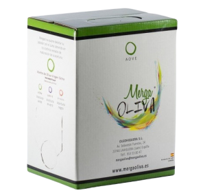 Mergaoliva Cenit. Aceite de oliva Picual. Bag in box 3 Litros