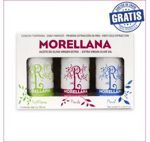 Estuche Morellana 3 variedades x 100 ml. Caja de 8 estuches.