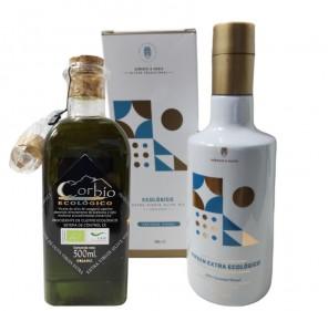 Organic EVOO Duo Pack 500 ml Corbío & Señorío de Mesía
