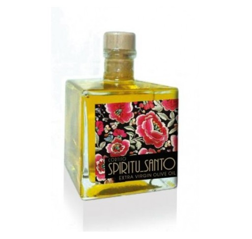 Frasquita cuadrada Spiritu Santo. Aceite de oliva Picual 100 ml