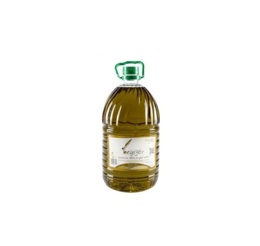 Olibegijar. Aceite de oliva Picual. 3 garrafas de 5 Litros