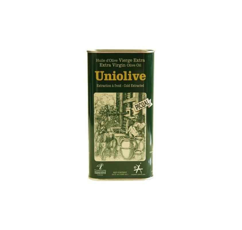 Almazara de la Union. Aceite de Oliva Picual. 16 Latas de 1 Litro