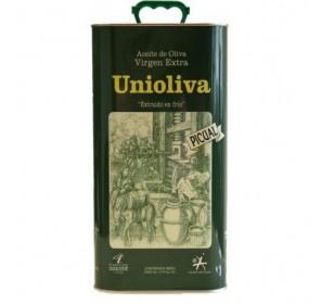 Unioliva. Aceite de Oliva Picual. 4 Latas de 5 Litros