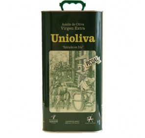 Unioliva. Picual Olive oil. 4 Tins of 5 Liters